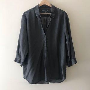SANDWICH 100% Tencel Shirt - Faded Black